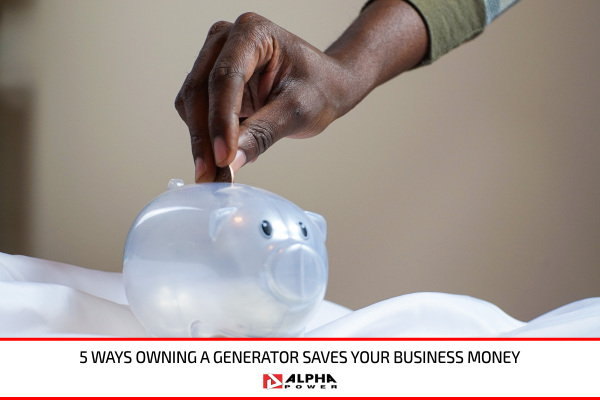 Man putting money in a piggy bank for his business